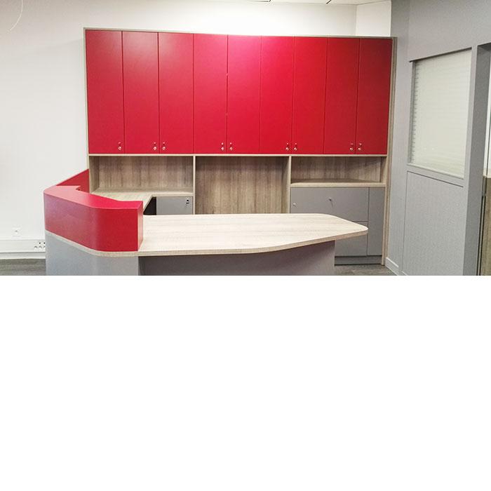 ESPRIT CONSTRUCTIF, spécialiste de la rénovation immobilière, réalisation d'un projet d'aménagement d'une agence immobilière à Dijon
